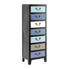 Tall Cabinet With 7-Drawer, Blue