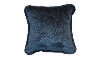 "Embossed Denim Microplush Pillow, 18""x18"""