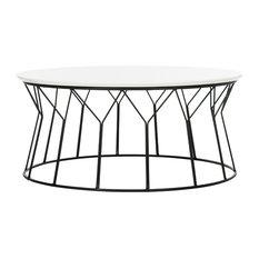 Deion Coffee Table Lacquer White Black