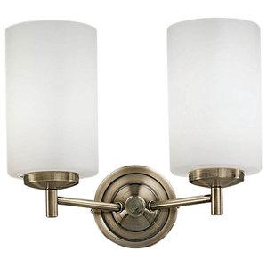 Decima Double Wall Light, Bronze