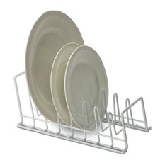 Wire Plate and Lid Rack - White