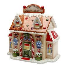 Santa's Village Candy Jar