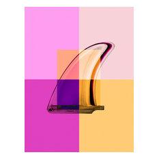 """""""Magenta Single Fin"""", Surf Art Photograph, Unframed,14''x18''"""