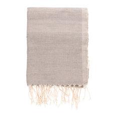 Handwoven Cotton Table Cloth/Throw, Grey