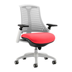 Flex Bespoke Task Office Chair With White Frame, Post Box Red