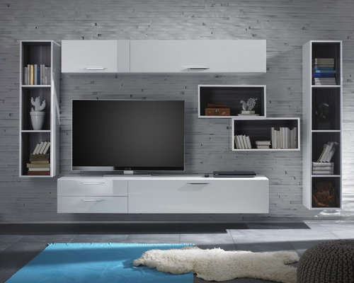 Modern Wall Unit TV Media Entertainment Center Club Composition 12     2 644 00   ProductsModern Wall Units. Contemporary Wall Units For Living Room. Home Design Ideas