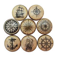 8-Piece Set Old World Nautical Cabinet Knobs