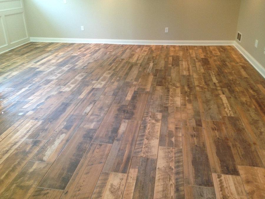 Finished basement tile