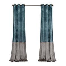 Charmant Lush Decor   Prima Velvet Color Darkening Window Curtain, Slate Blue/Gray  Set,