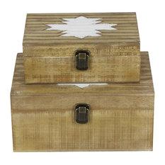 "GwG Outlet Wooden Box, 10"", 12"", Set of 2"