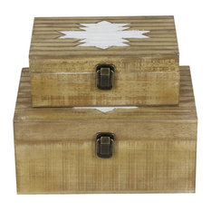 "GwG Outlet Wooden Box, 10"", 12"", Set of 2"