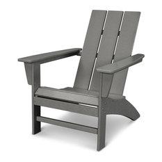 Modern Adirondack Chair, Slate Gray