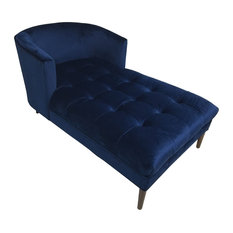 hd couture hayden mistral velvet chaise lounge navy indoor chaise lounge chairs