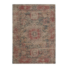 Camlin Red and Beige Patterned Floor Rug, 290x200 cm