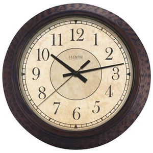 """Lacrosse Technology 14"""" Round Antique Wall Clock 404-2635"""