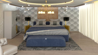 Modular Bed Room Interior with luxury Look