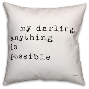 Jaxn Blvd My Darling Anything Is Possible Spun Poly Pillow, 16x16