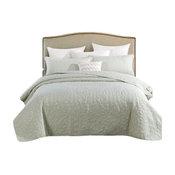 3-Piece Mint Green Sweet Pea Bedspread Set, King