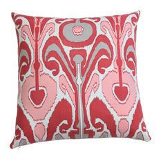 "Kenmare Ikat Hand Print Pillow Cover 20"" Warm"
