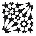"8""x8"" Agdal Handmade Cement Tile, Black and White, Set of 12"