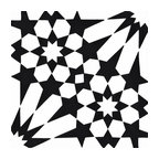 "8""x8"" Agdal Handmade Cement Tile, Black and White, Set of 12"