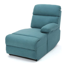 GDFStudio - Susana Comfort Modern Fabric Chaise, Dark Teal - Indoor Chaise Lounge Chairs