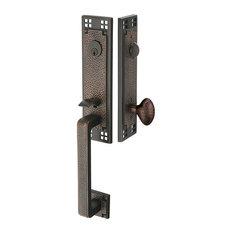 Emtek   Emtek Arts U0026 Crafts Entrance Handleset   Door Entry Sets