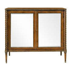 Mahogany Regency Cabinet With Antique Mirrors