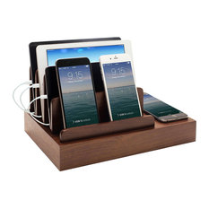 G.U.S. Charging Desk Organizer with Wireless Smart Charging Pad + USB, Black