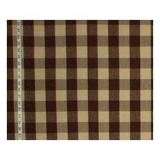 Buffalo Check Fabric Dark Brown Rt-Lym- Dl34 Espresso, Standard Cut