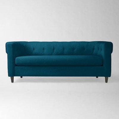 Modern Sofas West Elm Chester Tufted Upholstered Sofa