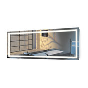 """Large LED Lighted Bathroom Mirror With Defogger and Dimmer, 72""""x30"""""""
