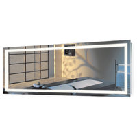 "Large LED Lighted Bathroom Mirror With Defogger and Dimmer, 72""x30"""