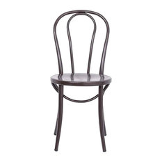 Bistro Chairs Antiqued Brown Set Of 2 18-inch Brown Box