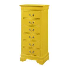 Louis Phillipe Lingerie Chest, Yellow