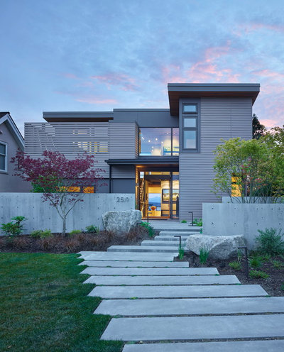 Houzz tour a new home designed as a gallery for Olympic homes