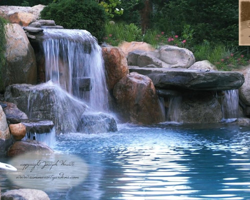 Swimming Pool Waterfall | Houzz