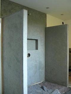 Dusche Deckenhoch Mauern Oder Oben Offen