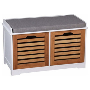 Contemporary Storage Bench in MDF With 2 Drawers