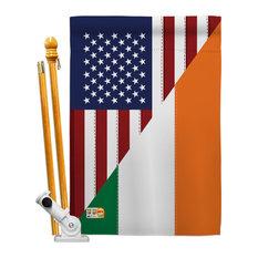 US Irish Friendship Flags of the World US Friendship House Flag Set