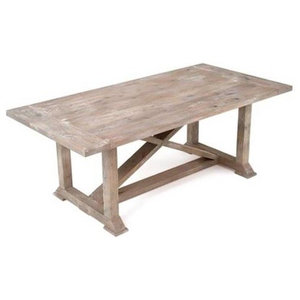 "Rustic Chic Farmhouse Harvest Dining Table, 72""x40''-44""x31"""