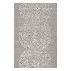 Dimensions Rectangle Transitional Rug, Light Gray/Border Color, 8'x10'