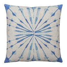 TheWatsonShop - Circle Watercolor Linen Throw Pillow - Decorative Pillows