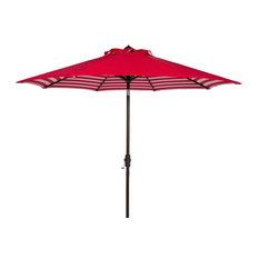 Athens 9 ft. Crank Outdoor Auto Tilt Umbrella in Red