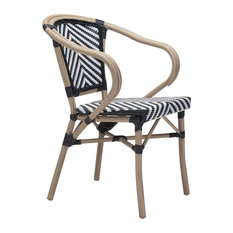 Paris Dining Arm Chair, Set of 2, Black & White