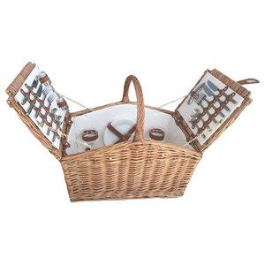 Light Steamed Slope-Sided Fitted Picnic Basket