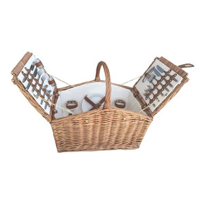 Light Steamed Slope-Sided Fitted Picnic Basket