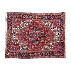 Esmaili Rugs - Consigned, Vintage Persian Heriz Rug With Mid-Century Modern Style, 7'04x09'05 - Area Rugs
