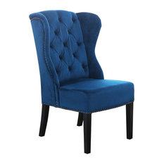 Abbyson Living Sierra Tufted Wingback Dining Chair, Blue