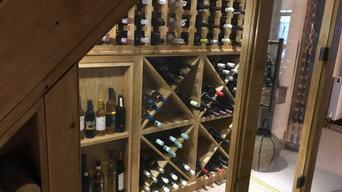 Under stairs wine store
